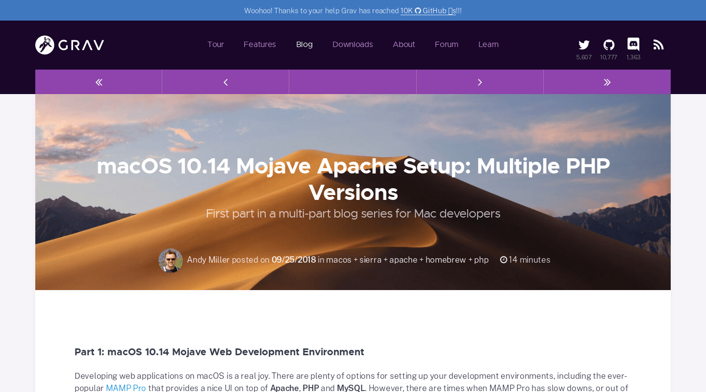 macOS 10 14 Mojave Apache Setup: Multiple PHP Versions