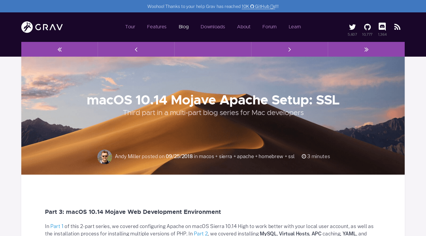 macOS 10 14 Mojave Apache Setup: SSL | Official home of Grav CMS