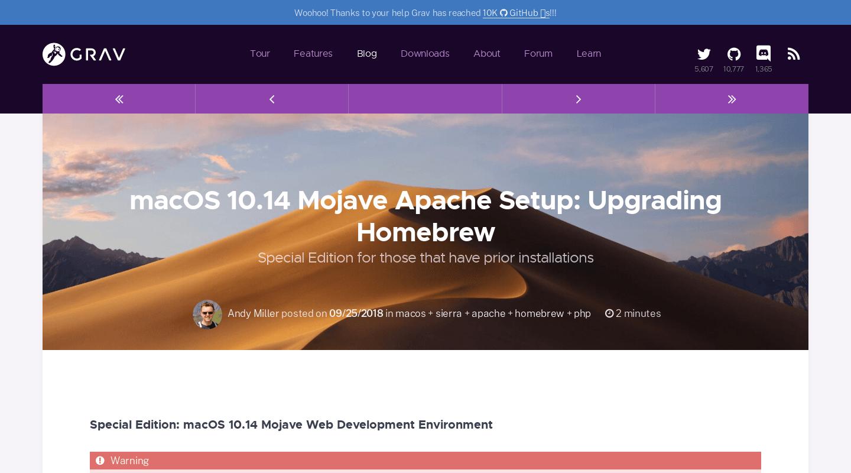macOS 10 14 Mojave Apache Setup: Upgrading Homebrew