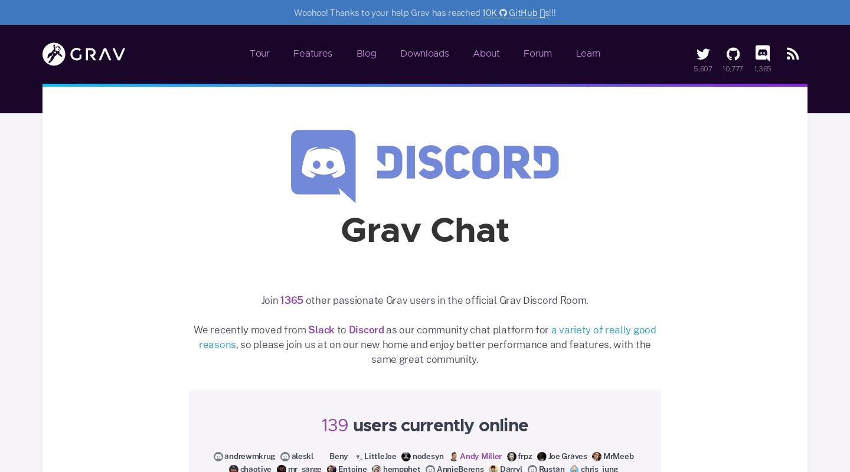 Grav Discord Chat | Official home of Grav CMS