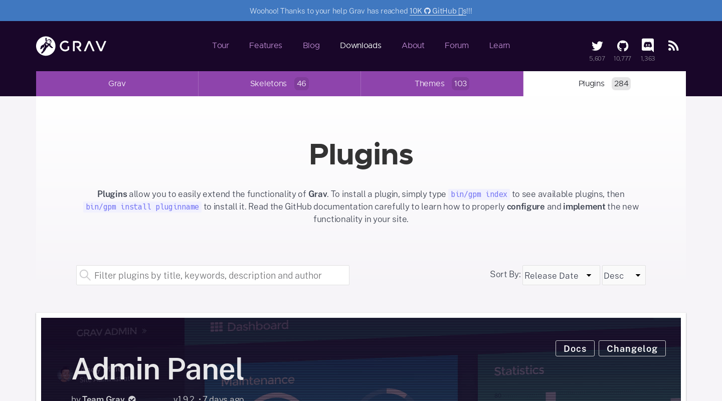 Plugins | Official home of Grav CMS