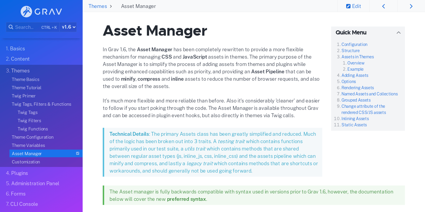 Asset Manager | Grav Documentation