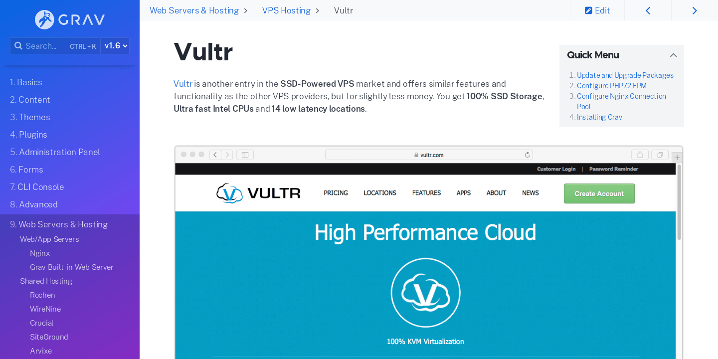 Vultr | Grav Documentation