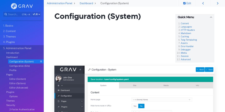 Configuration (System) | Grav Documentation