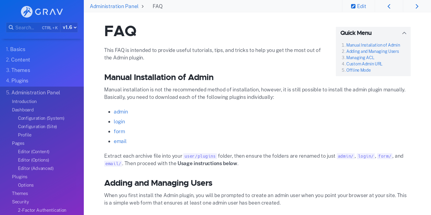 FAQ | Grav Documentation