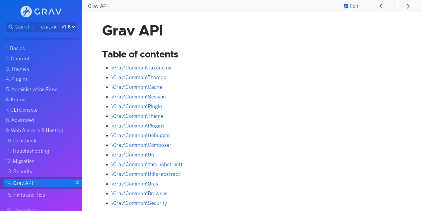 Grav API | Grav Documentation