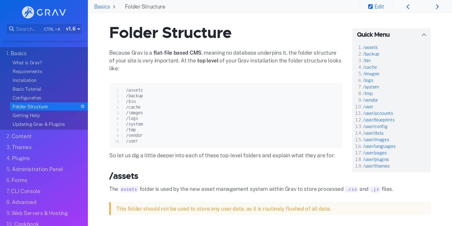 Folder Structure | Grav Documentation